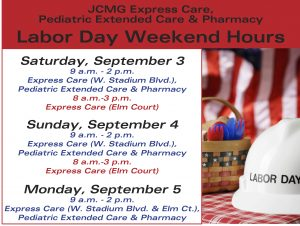 JCMG Express Care 2016 Labor Day Hours