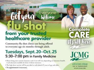 JCMG flu shot clinic