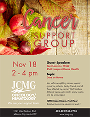 JCMG Cancer Support Group