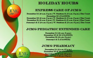 2016 Christmas New Years Holiday Hours